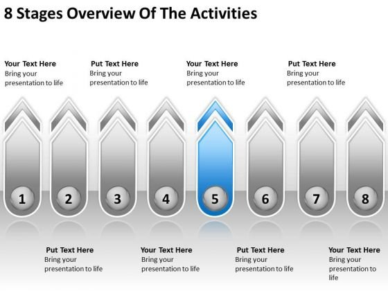 8 Stages Overview Of The Activities Business Plan Marketing PowerPoint Slides