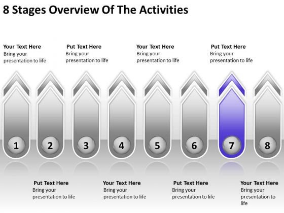 8 stages overview of the activities event planning business, Modern powerpoint