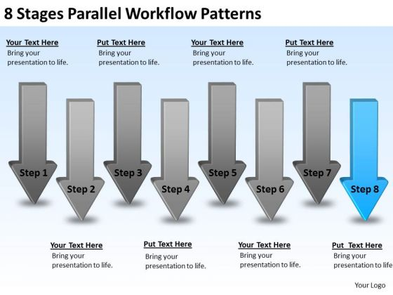 8 Stages Parallel Workflow Patterns Ppt Business Executive Summary PowerPoint Slides