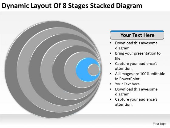 8 Stages Stacked Diagram Ppt Business Plan Executive Summary Template PowerPoint Templates