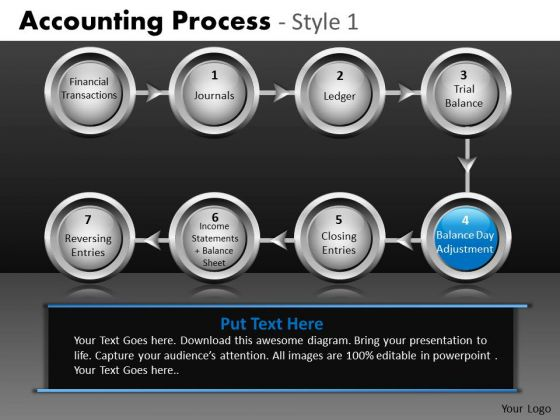 8 Stages Straight Line Process Round Text Boxes PowerPoint Slides Ppt Templates