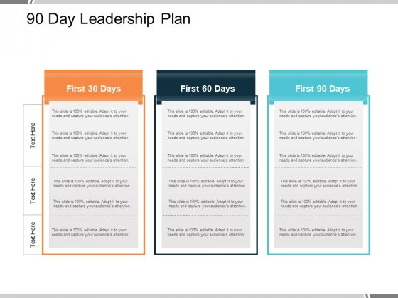 90 Day Leadership Plan Ppt PowerPoint Presentation Model Skills