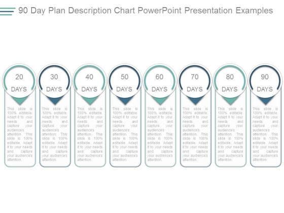 90 Day Plan Description Chart Powerpoint Presentation Examples