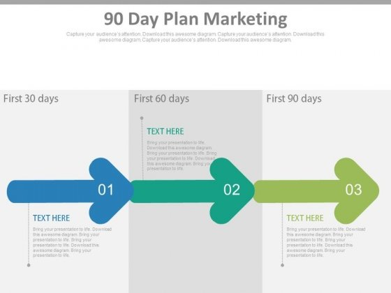 90 Day Plan Marketing Ppt Slides