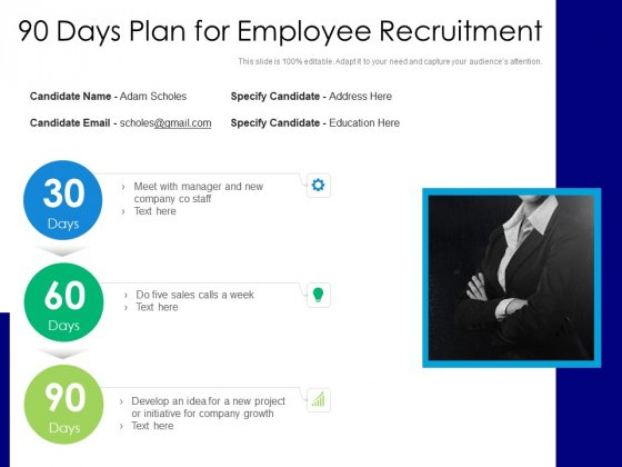 90 Days Plan For Employee Recruitment Ppt PowerPoint Presentation File Rules PDF