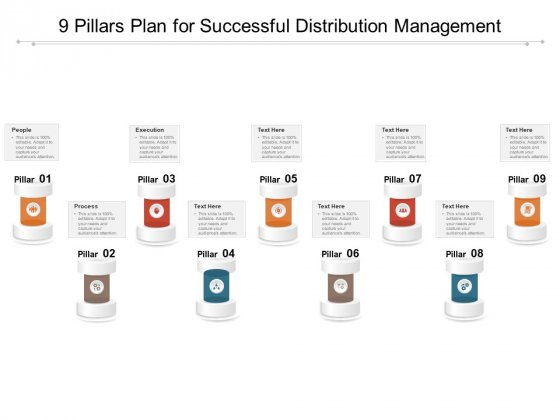 9 Pillars Plan For Successful Distribution Management Ppt PowerPoint Presentation Samples PDF