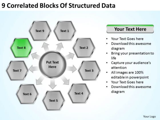 Correlated Blocks Of Structured Data Ppt Hotel Business Plan