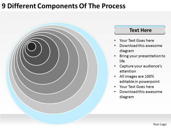 9 Different Components Of The Process Ppt Business Plan For PowerPoint Templates