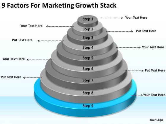 9 Factors For Marketing Growth Stack Ppt Executive Summary Business Plan PowerPoint Templates