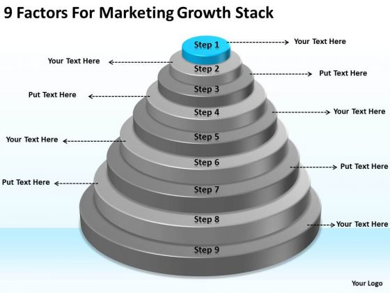 9 Factors For Marketing Growth Stack Ppt Sample Business Plans PowerPoint Templates