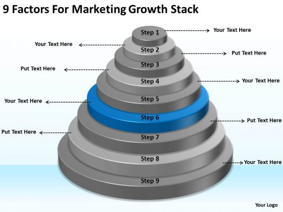 9 Factors For Marketing Growth Stack Small Business Plan Outline PowerPoint Templates