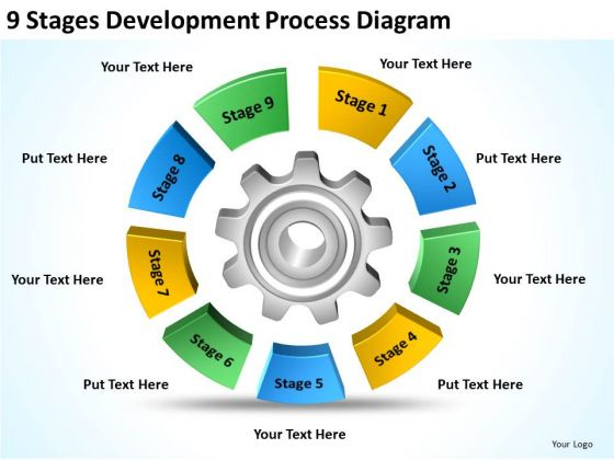 9 Stages Development Process Diagram Examples Of Business Plan PowerPoint Slides
