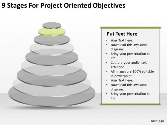 9 Stages For Project Oriented Objectives What Is Business Plan PowerPoint Slides
