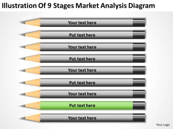 9 Stages Market Analysis Diagram Sample Business Continuity Plan PowerPoint Templates