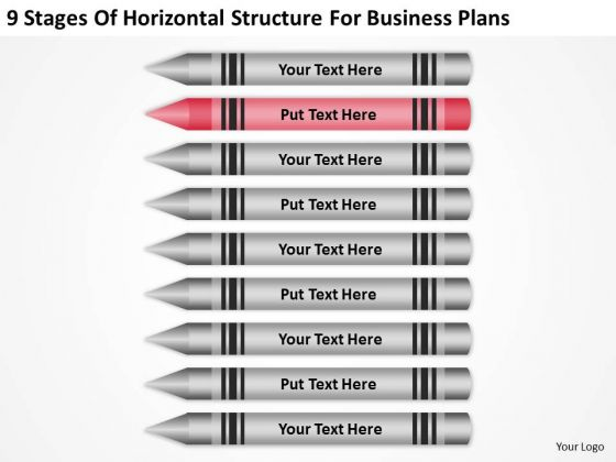 9 Stages Of Horizontal Structure For Business Plans Ppt Example PowerPoint Slides