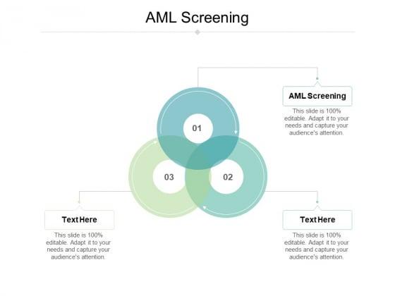 AML Screening Ppt PowerPoint Presentation Slides Gallery Cpb Pdf