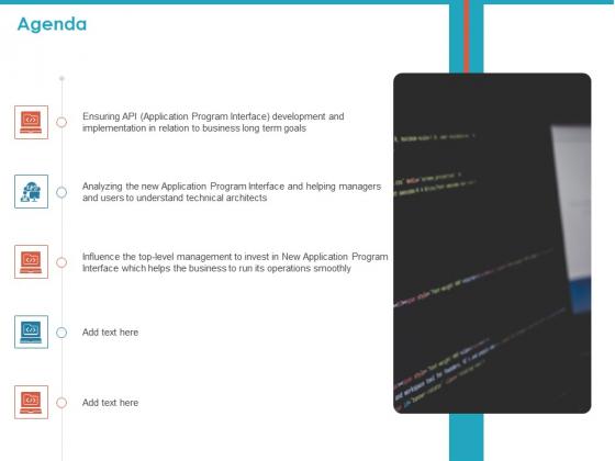 API For Software Building Agenda Ppt Professional Example PDF