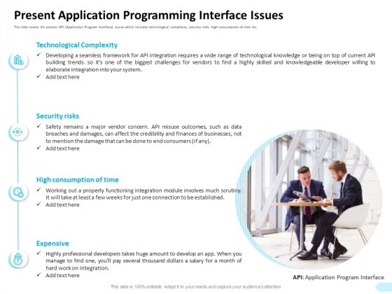 API Integration Software Development Present Application Programming Interface Issues Designs PDF