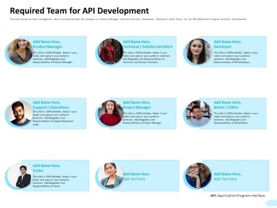 API Integration Software Development Required Team For API Development Brochure PDF