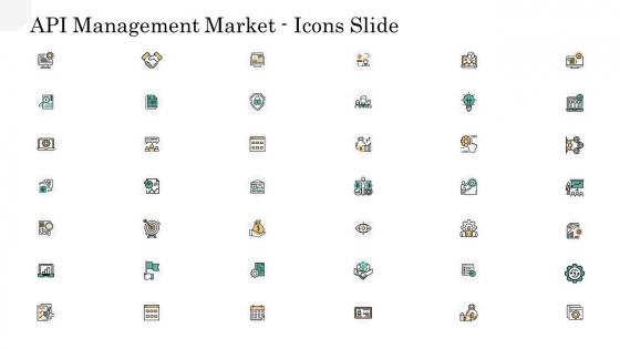 API Management Market Icons Slide Portrait PDF