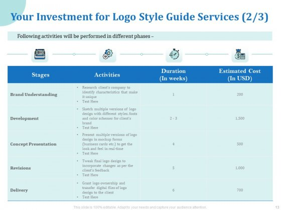 A_Step_By_Step_Guide_To_Creating_Brand_Guidelines_Ppt_PowerPoint_Presentation_Complete_Deck_With_Slides_Slide_13