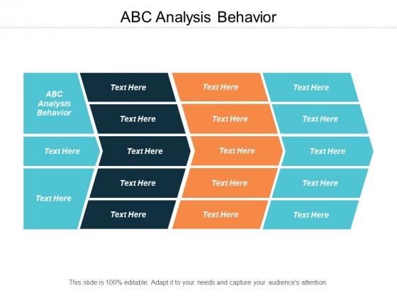Abc Analysis Behavior Ppt PowerPoint Presentation Slides Ideas Cpb