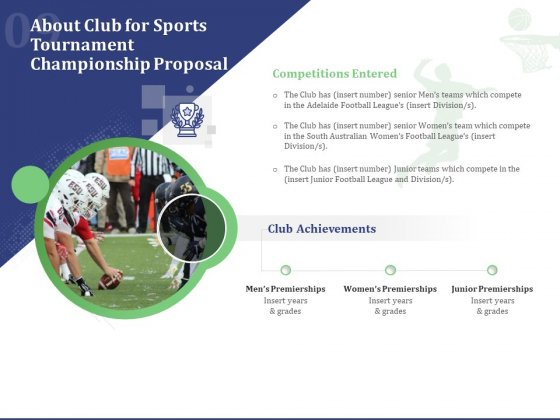 About Club For Sports Tournament Championship Proposal Ppt Inspiration Microsoft PDF
