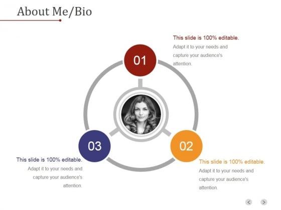 About_Me_Bio_Ppt_PowerPoint_Presentation_Visuals_Slide_1