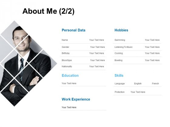 About Me Education Ppt PowerPoint Presentation Summary Deck