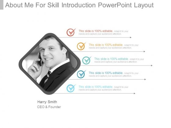 About Me For Skill Introduction Powerpoint Layout