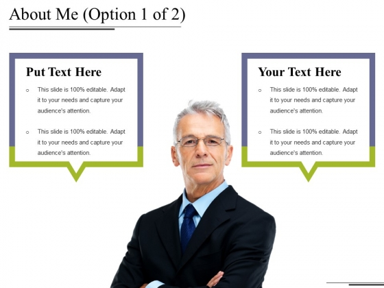 About Me Template 1 Ppt PowerPoint Presentation Gallery Inspiration