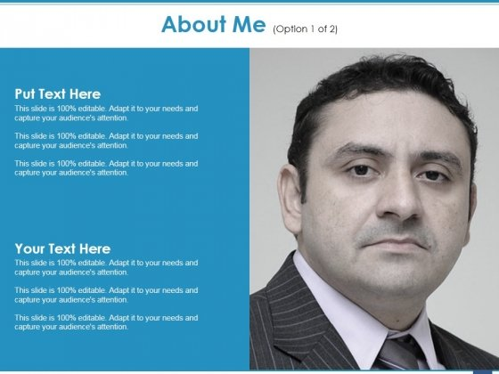 About Me Template 1 Ppt PowerPoint Presentation Slides Demonstration