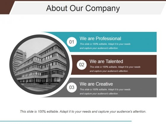 About Our Company Ppt PowerPoint Presentation Infographic Template Samples