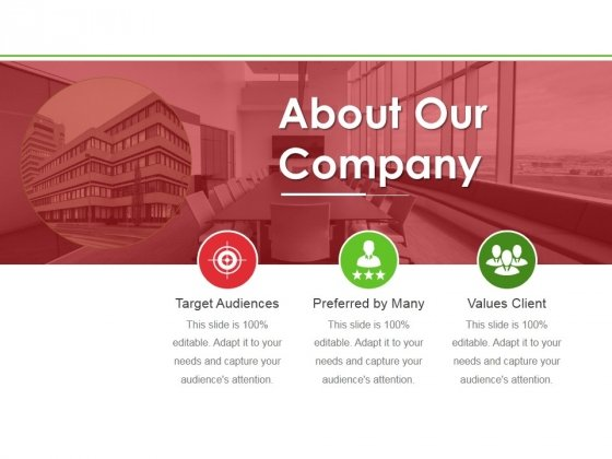 About Our Company Ppt PowerPoint Presentation Infographics Guidelines
