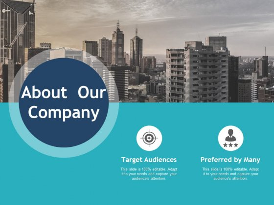 About Our Company Target Audiences Ppt PowerPoint Presentation Infographic Template Shapes