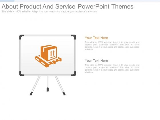 About Product And Service Powerpoint Themes