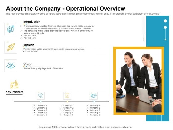 About The Company Operational Overview Portrait PDF