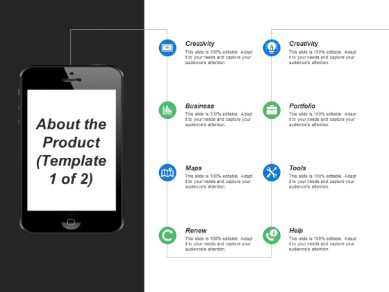 About The Product Creativity Ppt PowerPoint Presentation Slides Example