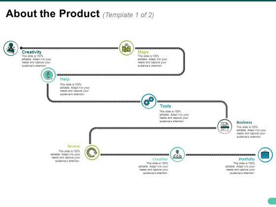 About The Product Template 1 Ppt PowerPoint Presentation File Example Topics