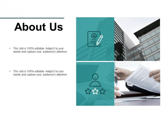 About Us Audience Attention Ppt PowerPoint Presentation Infographic Template Deck