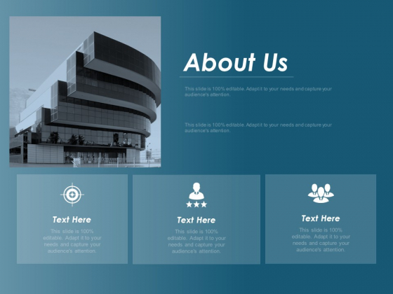 About Us Business Marketing Ppt Powerpoint Presentation Outline Icon