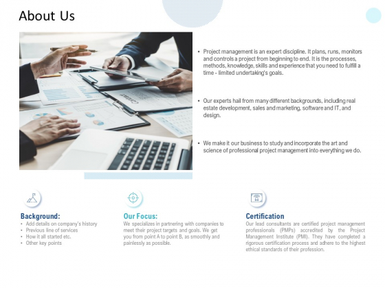 About Us Certification Ppt PowerPoint Presentation Ideas Outline