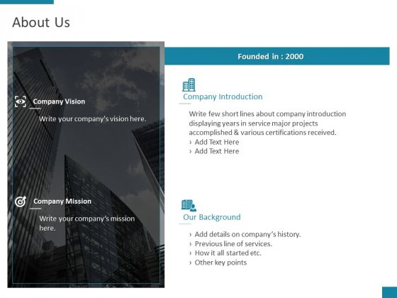 About Us Company Introduction Ppt PowerPoint Presentation Show Format