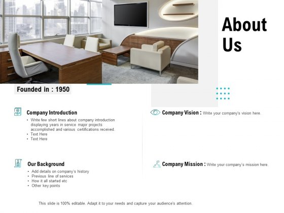 About Us Company Vision Ppt Powerpoint Presentation Inspiration Slide Powerpoint Templates