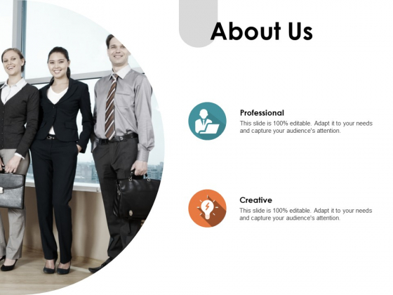 About Us Creative Ppt PowerPoint Presentation Professional Smartart