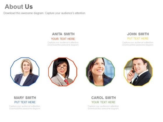 About Us Design For Company Professionals Powerpoint Slides