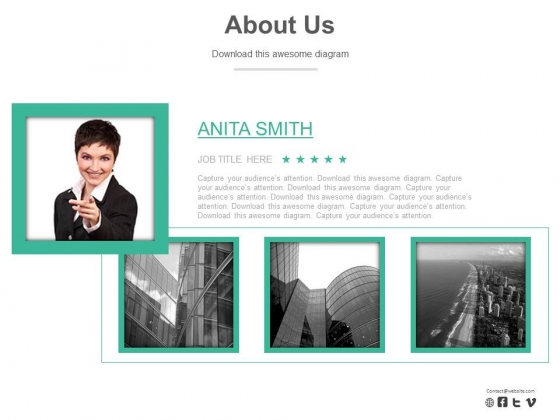 About Us Design For Corporate Profile Powerpoint Slides