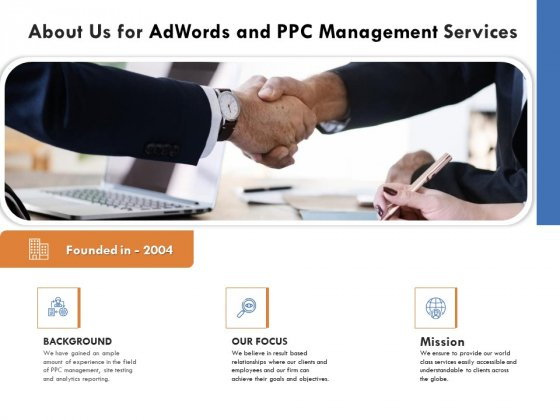 About Us For Adwords And PPC Management Services Formats PDF