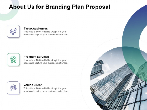 About Us For Branding Plan Proposal Ppt Layouts Topics PDF