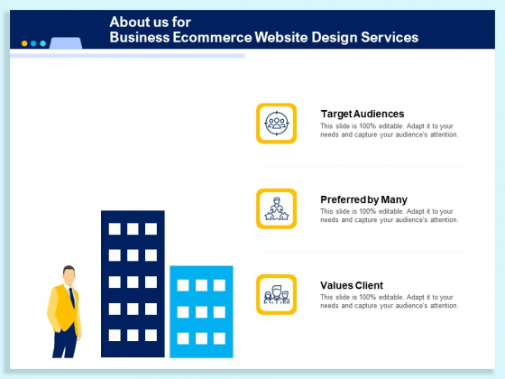 About Us For Business Ecommerce Website Design Services Ppt PowerPoint Presentation Layouts PDF